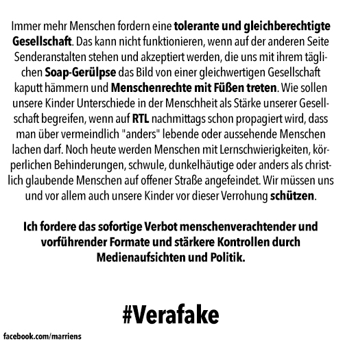 Statement zu #Verafake